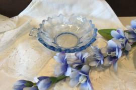 Schaaltje blauw glas