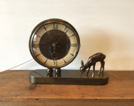 Art Deco lampje, brons, met hertje