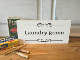 Laundry room bordje