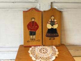 Duitse wandbordjes van hout