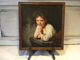 Rembrandt, jong meisje in het venster