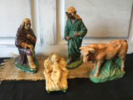 Brocante kerststal figuren