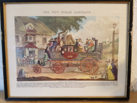 Aquatint The New Steam Carriage 1817