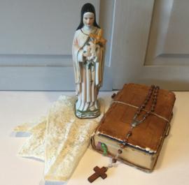 Maria beeldje biscuit porselein