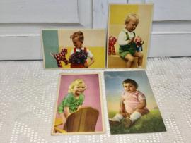4 kinderkaarten van vroeger