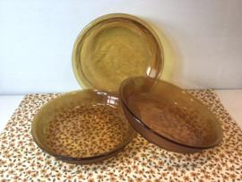 Amberkleurige borden Arcoroc