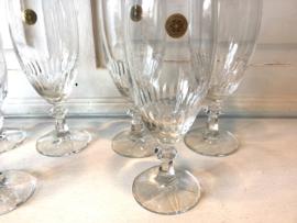 6 kristallen glazen