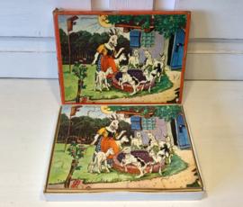 Oud houten puzzeltje