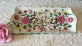 Old Foley cakeschaal, Chinese Rose