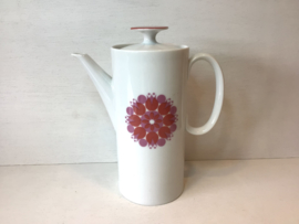 Retro koffiepot van porselein