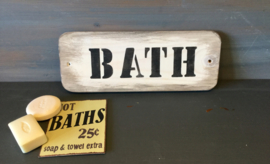 Tekstbordje badkamer