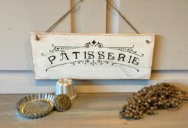 Houten tekstbord: Patisserie