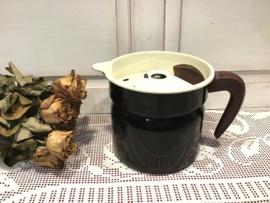 Zwarte melkkoker met bakeliet greepje