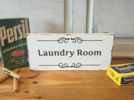 Laundry room houten bordje