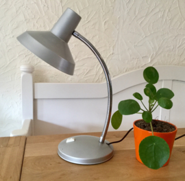 Vintage grijze bureaulamp