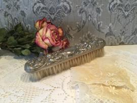 Antieke kledingborstel verzilverd