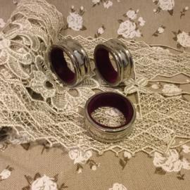 3 verzilverde wijnfles druipringen