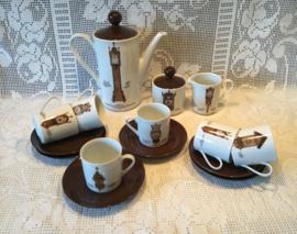 Mitterteich Bavaria, koffieservies klokken