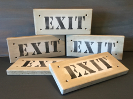 Houten bordje Exit