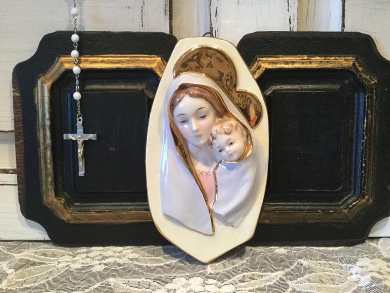 Aardewerk, Maria en kind