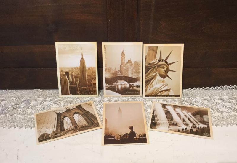 6 nostalgische kaarten New York (nieuw)