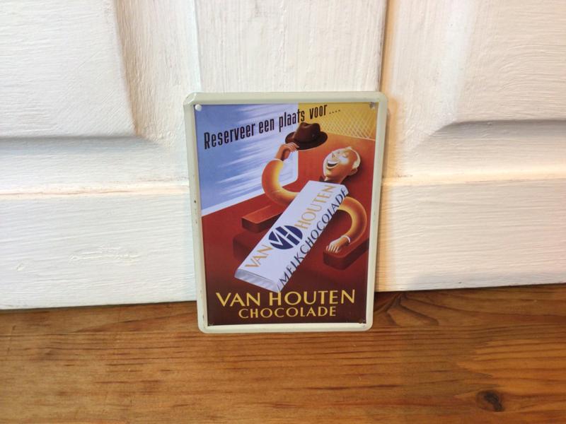 Van Houten reclamebordje van blik