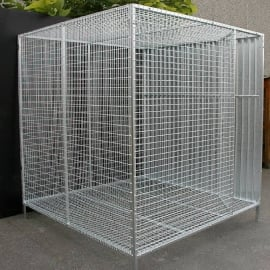 Galvanised aviaries