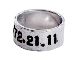 Aluminium telefoonring -  4 mm