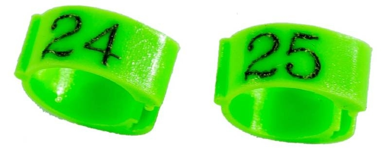 Knijpringen genummerd