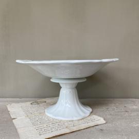 AW20110904 Antieke compotiere stempel - P.Regout & Co. Maastricht - periode: 1884 in perfecte staat! Afmeting:  14 cm. hoog / 26,5 cm. doorsnede t/m de greepjes.