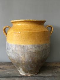 AW20110367 19de eeuwse Franse Confit-pot in prachtige staat! / Afmeting: 27,5 cm. hoog / 19 cm. doorsnede.
