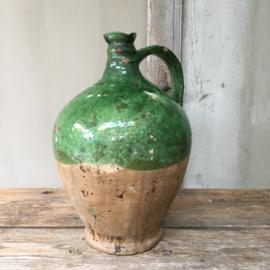 AW20110546 19de eeuwse Franse olijfolie kruik in prachtige staat! Afmeting: +/- 35 cm. hoog  / doorsnede: +/- 24 cm. (breedste gedeelte)