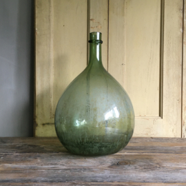 OV20110662 Old French mold blown wine bottle content: 5 liters in beautiful weathered condition! Size: +/- 33 cm. high / +/- 21 cm. cross section.