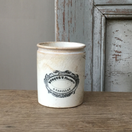 AW20110532 Beautiful small antique French pharmacists jar stamp-Creil et Montereau L M & C-period: 1840-1876 in very nice condition!