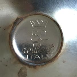 OV20110577 Set van 7 oude verzilverde Italiaanse champagne/dessert coupes stempel:  - El De Uberti Italy - periode: jaren'70 in prachtige staat! Afmeting: 11,5 cm. hoog / +/- 10,5 cm. doorsnede.