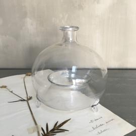 OV20110713 Antieke 19de eeuwse Franse wespen- of vliegenvanger van mond geblazen glas in perfecte staat! Afmeting: +/- 18 cm. hoog / +/- 16 cm. doorsnede