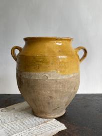 AW20110875 Antieke Zuid-Franse confitpot periode: 19de eeuw in prachtige staat! Afmeting: 25,5 cm. hoog /  17 cm. doorsnede