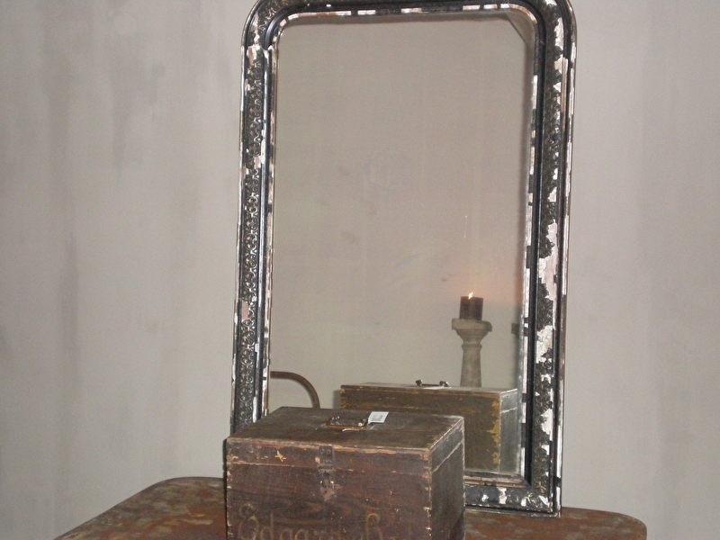 Oude Spiegel Zonder Lijst.Ov20110114 Oude Franse Spiegel Met Mooie Zwarte Houten Lijst
