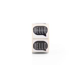 Sluit stickers / etiketten HELLO black (10 stuks)