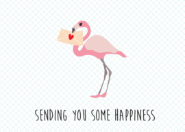 Kaart Sending you some happiness