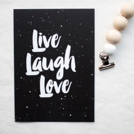 Kaart Live laugh love