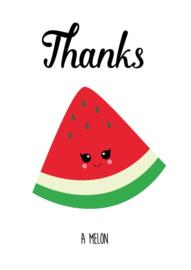 Kaart Thanks a melon