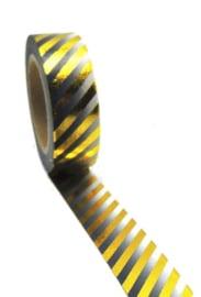 masking tape Stripe zwart/goud