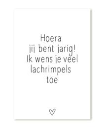 Minikaartje Hoera jarig