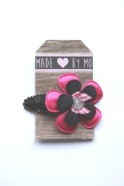Haarknipje Zwart/roze