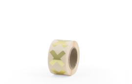 Sluit stickers / etiketten Cross gold