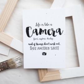 Kaart Life is like a camera