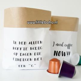 Paperbaggies | Koffie nodig