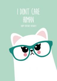 Kaart I don't care human