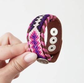 Waitz armband pink 25mm